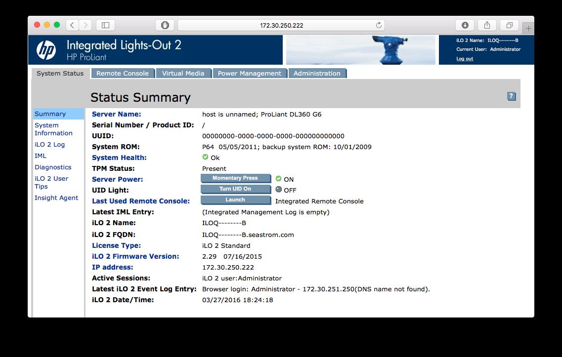 ILO2 screenshot